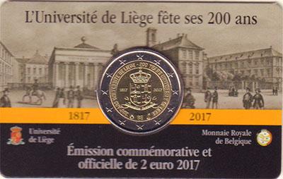 Изображение Подарочные монеты Бельгия 2 евро 2017 Биметалл UNC