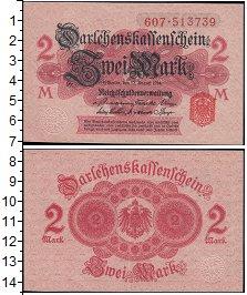 Изображение Банкноты Германия 2 марки 1914   Бумага розовая