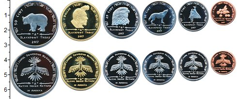 Изображение Наборы монет Резервация Хамул Индейцы Хамул Индейцы 2017 2017  Proof-