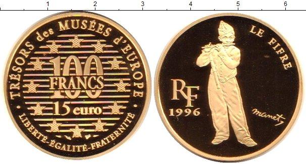 Картинка Монеты Франция 100 франков Золото 1996