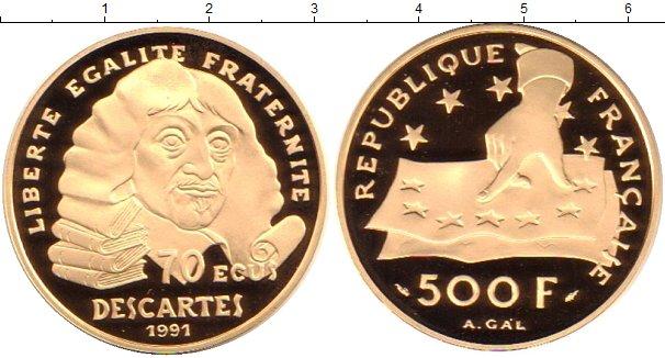 Картинка Монеты Франция 500 франков Золото 1991