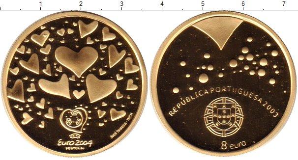 Картинка Монеты Португалия 8 евро Золото 2003