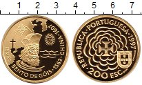 Изображение Монеты Португалия 200 эскудо 1997 Золото Proof