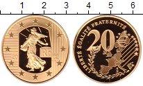 Изображение Монеты Франция 20 евро 2002 Золото Proof