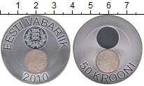 Изображение Монеты Эстония 50 крон 2010 Серебро Proof