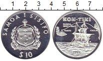 Изображение Монеты Самоа 10 долларов 1988 Серебро Proof