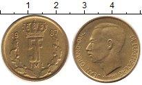 Изображение Монеты Люксембург 5 франков 1987 Латунь XF Герцог  Люксембургск