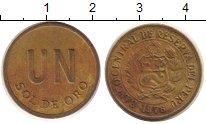 Изображение Монеты Перу 1 соль 1976 Латунь XF