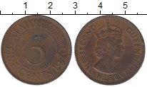 Изображение Монеты Маврикий 5 центов 1970 Бронза XF