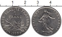 Изображение Монеты Франция 1 франк 1999 Медно-никель XF