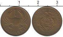 Изображение Монеты Сейшелы 1 цент 1982 Латунь XF