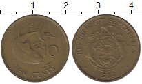 Изображение Монеты Сейшелы 10 центов 1982 Латунь XF