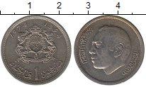Изображение Монеты Марокко 1 дирхам 1974 Медно-никель XF