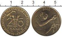 Изображение Монеты Западно-Африканский Союз 25 франков 2000 Латунь UNC-