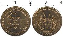 Изображение Монеты Западно-Африканский Союз 5 франков 2002 Латунь UNC-
