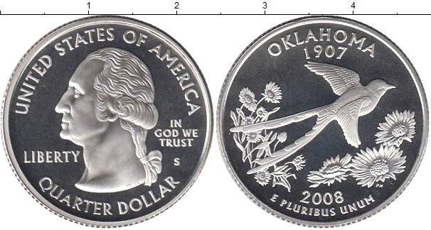 Купить медно-никелевую монету америки недорого 1/4 доллара 2.