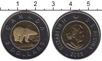 Изображение Монеты Канада 2 доллара 2005 Биметалл UNC Елизавета II. Белый