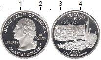 Изображение Монеты США 1/4 доллара 2008 Серебро Proof-