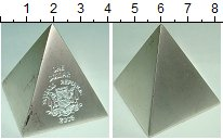 Изображение Монеты Сомали 1 доллар 2003 Медно-никель XF Пирамида. Геометрия