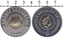 Изображение Мелочь Гернси 5 фунтов 1999 Биметалл UNC- Миллениум