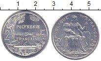 Изображение Монеты Полинезия 2 франка 2011 Алюминий UNC-