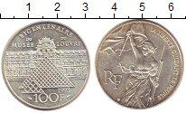 Изображение Монеты Франция 100 франков 1993 Серебро UNC-