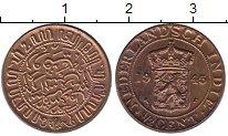 Изображение Монеты Нидерландская Индия 1/2 цента 1945 Бронза XF
