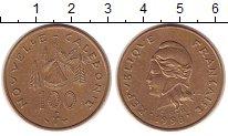 Изображение Монеты Новая Каледония 100 франков 1998 Латунь XF