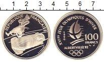 Изображение Монеты Франция 100 франков 1990 Серебро Proof Олимпиада 92. Альбер