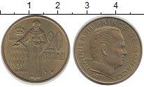Изображение Монеты Монако 20 сантим 1977 Латунь XF