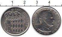 Изображение Монеты Монако 1 франк 1976 Медно-никель UNC-