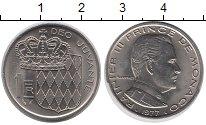 Изображение Монеты Монако 1 франк 1977 Медно-никель UNC-