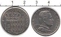 Изображение Монеты Монако 1 франк 1960 Медно-никель XF Принц  Монако  Ренье