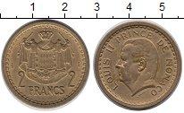Изображение Монеты Монако 2 франка 1945 Латунь XF