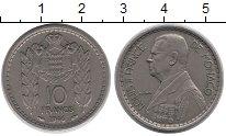 Изображение Монеты Монако 10 франков 1946 Медно-никель XF Принц  Монако  Луи I
