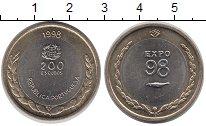 Изображение Монеты Португалия 200 эскудо 1998 Биметалл UNC-