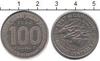 Изображение Монеты Камерун 100 франков 1966 Медно-никель XF Антилопы