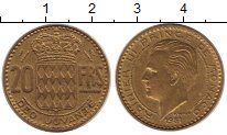 Изображение Монеты Монако 20 франков 1951 Латунь XF