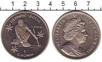 Изображение Монеты Остров Мэн 1 крона 2013 Медно-никель UNC Олимпиада в Сочи