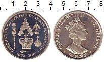 Изображение Монеты Остров Святой Елены 50 пенсов 2003 Медно-никель UNC Елизавета II.  50 -