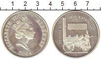 Изображение Монеты Великобритания Олдерни 5 фунтов 2004 Серебро Proof-