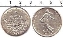 Изображение Монеты Франция 5 франков 1963 Серебро XF