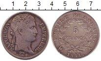 Изображение Монеты Франция 5 франков 1811 Серебро XF-