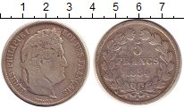 Изображение Монеты Франция 5 франков 1834 Серебро VF
