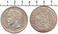 Изображение Монеты Франция 5 франков 1868 Серебро XF Наполеон III