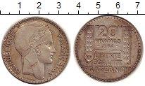 Изображение Монеты Франция 20 франков 1934 Серебро XF Марианна