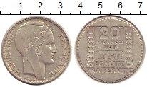Изображение Монеты Франция 20 франков 1938 Серебро XF Марианна