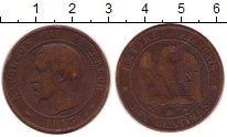 Изображение Монеты Франция 10 сантим 1853 Бронза VF