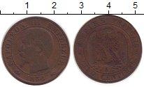 Изображение Монеты Франция 5 сантим 1856 Бронза XF-