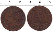 Изображение Монеты Франция 5 сантим 1857 Бронза XF